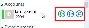 Presence window hover menu on call