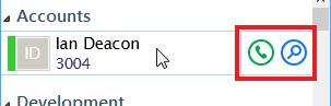 Presence window hover menu