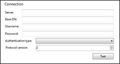 LDAP integration configuration screen