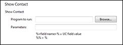 LDAP integration Show Contact configuration screen
