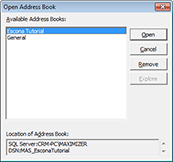 Maximizer Address Book window