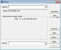 Maximizer phone record window