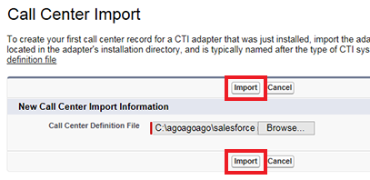 Import XML file