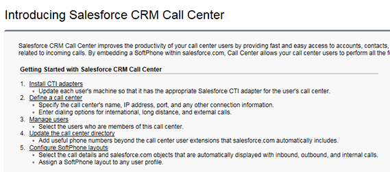 Introducing Salesforce CRM Call Center
